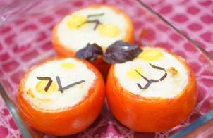 Помидоры, запеченные с яйцом
