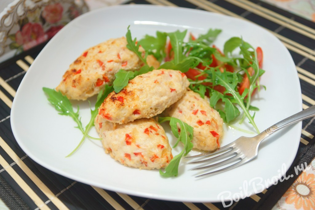 рубленные куриные котлеты в духовке рецепт с фото пошагово