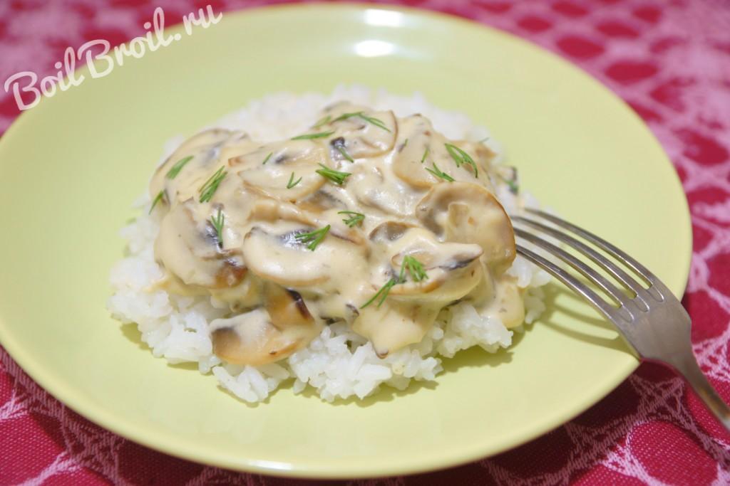 Подлива из грибов со сметаной рецепт с фото пошагово