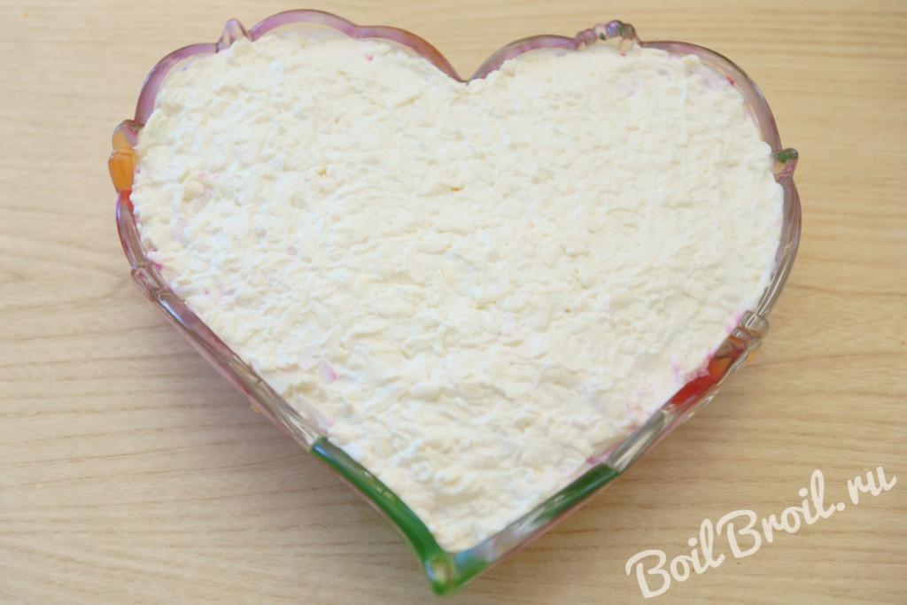 салат невеста рецепт с фото с грибами