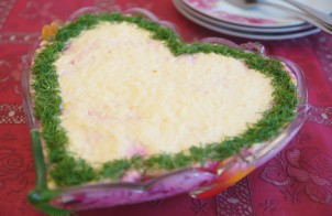 Салат невеста со свеклой