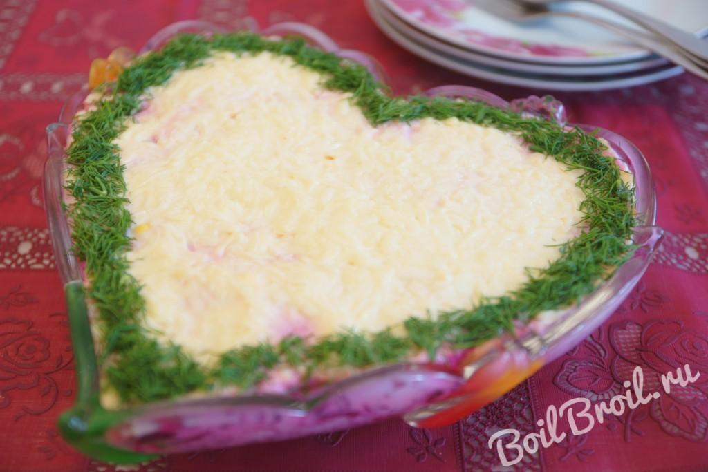 Салат невеста рецепт с с курицей пошагово