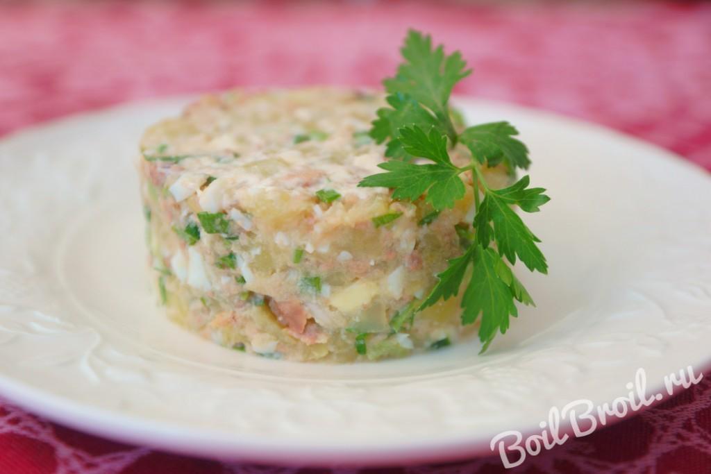 Салат с печенью трески рецепт очень вкусный мимоза 127