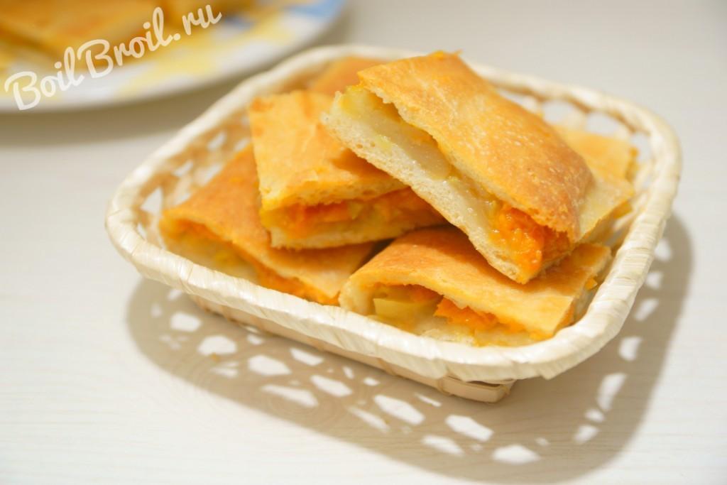 Пирог на кефире с яблоками рецепт