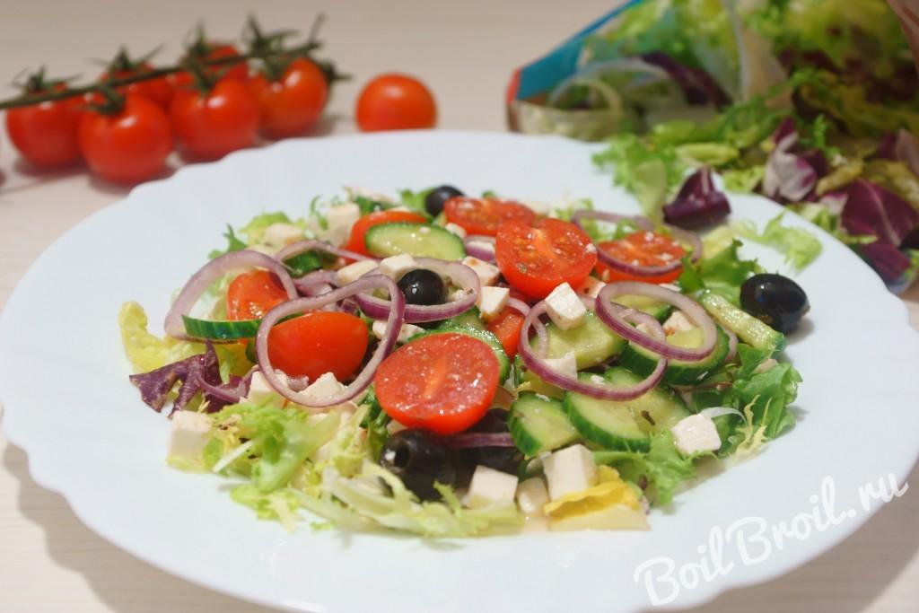 салат с сиртаки рецепт с фото пошагово