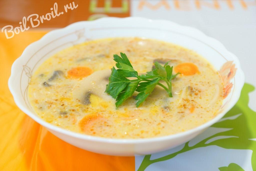 рецепт супа с шампиньонами и лапшой