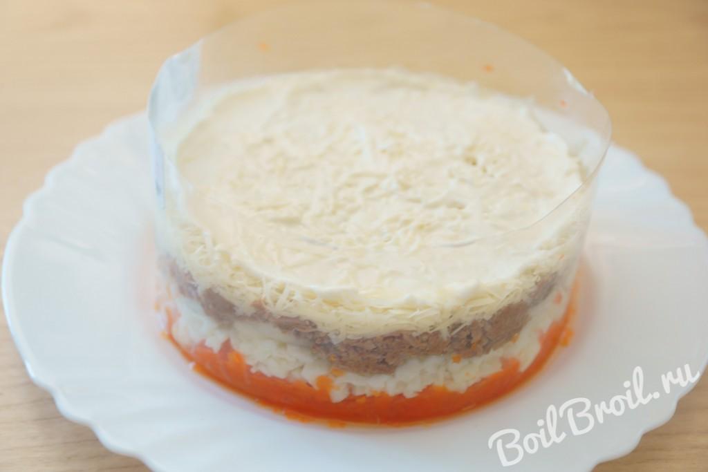 Мимоза с рисом и сыром рецепт с пошагово