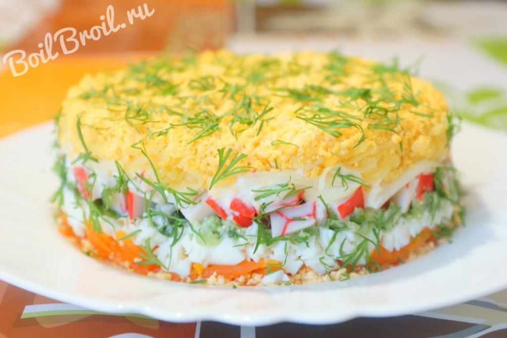 Красивый салат мимоза