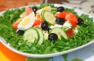 Салат греческий простой