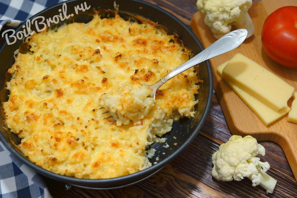 Цветная капуста в духовке с сыром рецепт пошагово в духовке