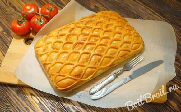 Пирог с капустой и рыбой