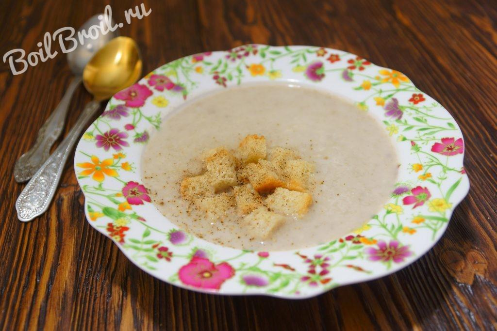 Рецепт супа-пюре из шампиньонов пошагово