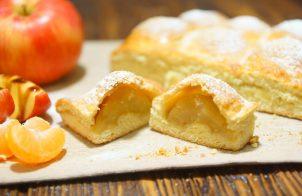 Бездрожжевой пирог с яблоками