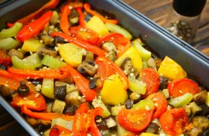 Овощи в духовке запеченные в фольге