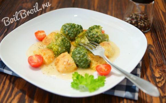 Картошка с брокколи