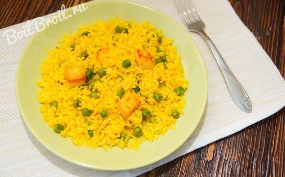 Рис с сыром на сковороде